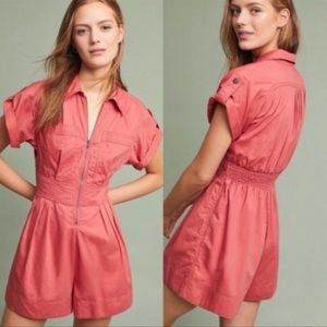Holding Horses Marliene Utility Romper Coral
